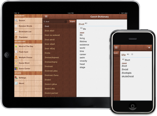 Czech Dictionary for iPhone, iPad