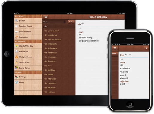 French dictionary Pro for iPad, iPhone, iPod Touch