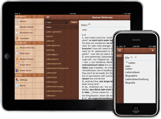 German Dictionary for iPhone, iPad