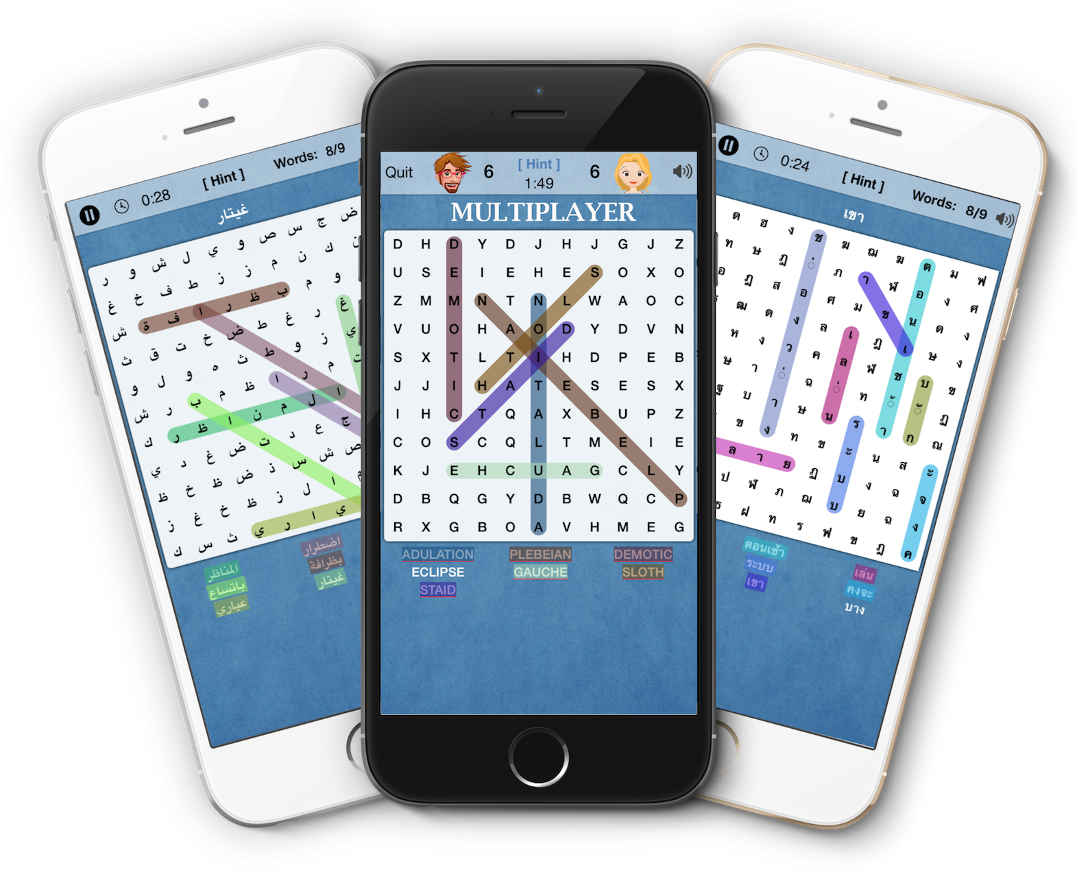 Word Search Multiplayer - Crossword Multilingual